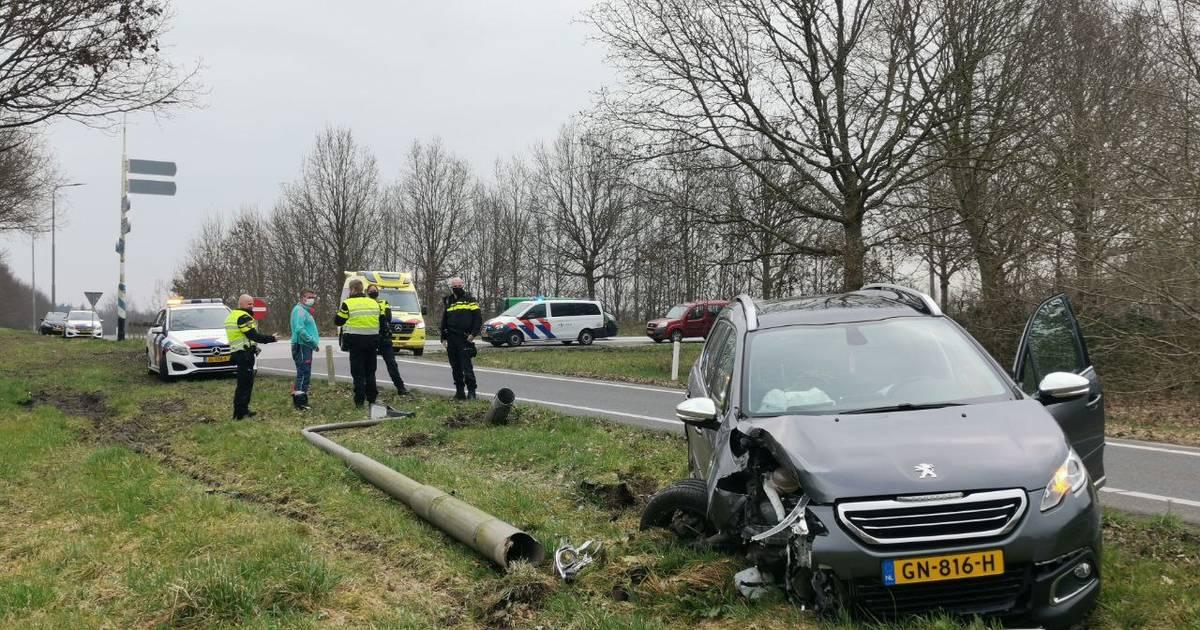 Man gewond bij eenzijdig ongeval op A32 bij Steenwijk.