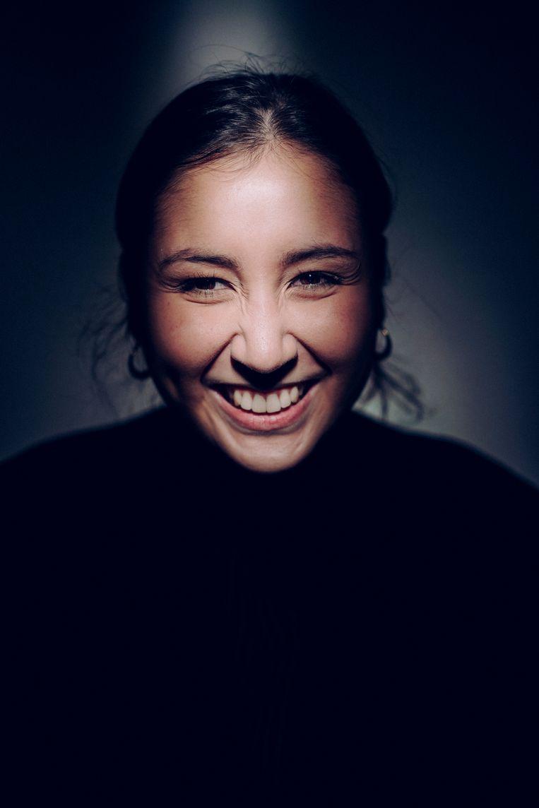 'Ik ween keiveel. Bijna evenveel als ik lach.' Beeld © Stefaan Temmerman