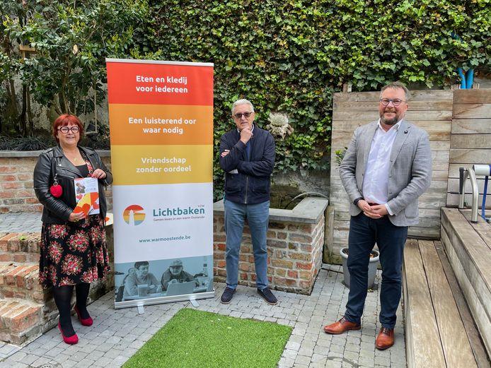 Isabelle Vandemaele, Pierre De Coninck en Peter De Gryse lanceren een nieuwe campagne voor Warm Oostende.