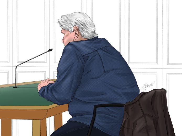 De verdachte in de rechtbank