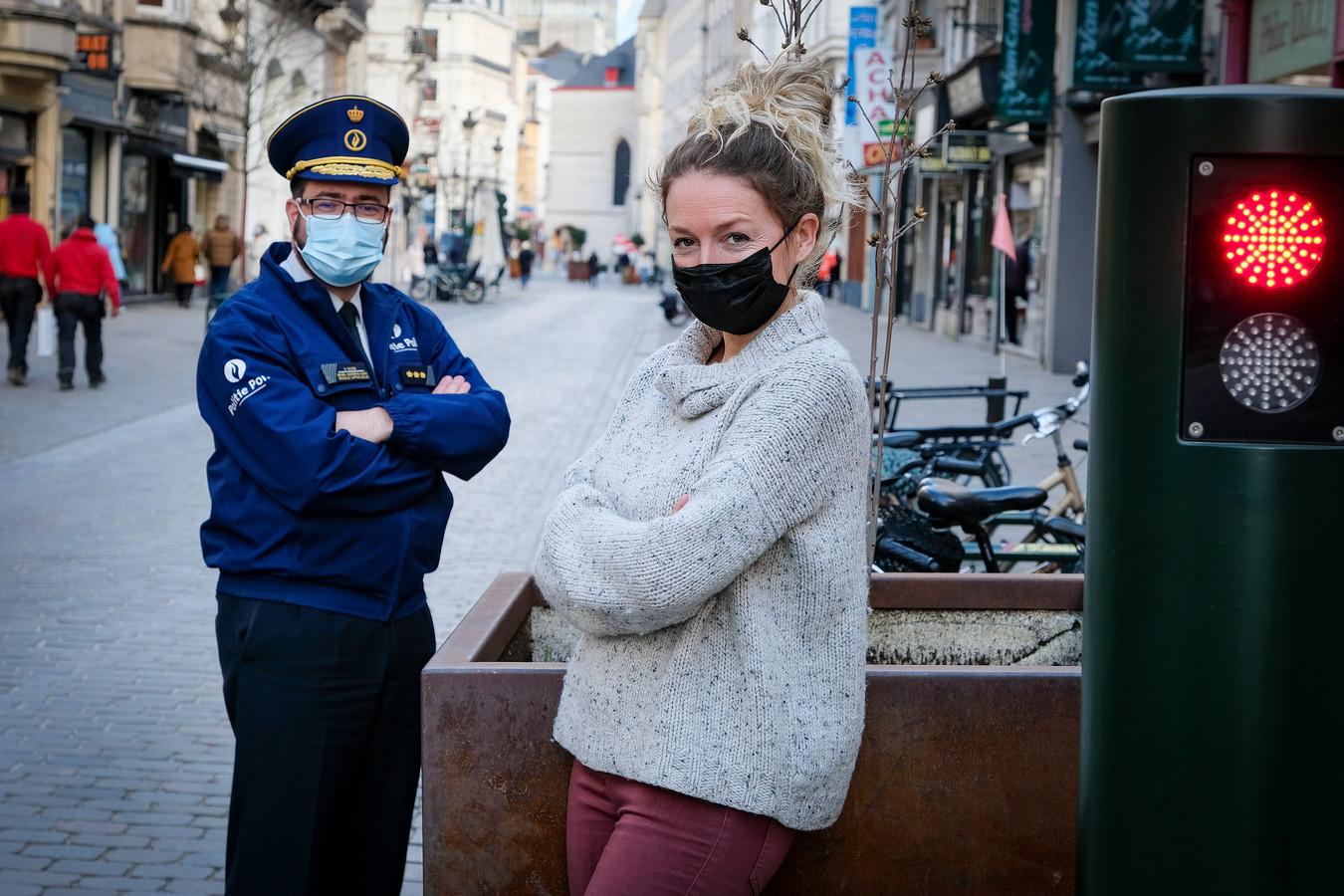 Commissaris Olivier Slosse en rechercheur Sophie Van Den Dooren, die zedenzaken onderzoekt bij de lokale politiezone Brussel Hoofdstad Elsene.