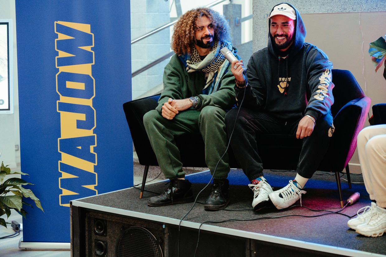 Vijftig Brusselse jongeren volgden afgelopen weekend 'Wajow', de masterclass films en documentaires maken voor jongeren van Bilall Fallah en Adil El Arbi. Beeld Damon De Backer
