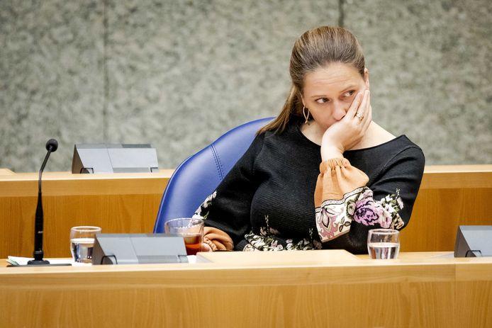 Minister Carola Schouten (Landbouw) tijdens het stikstofdebat in de Tweede Kamer.
