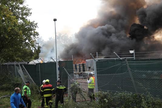 In oktober brak brand uit op de bouwplaats