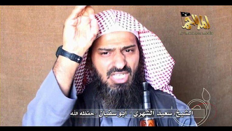 Screenshot van Said al-Shehri. Beeld afp