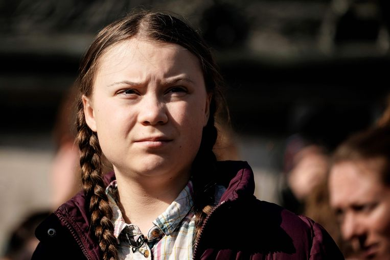 Greta Thunberg brengt haar schoolvakantie in ons land door. Beeld AFP