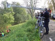 Man rijdt met scootmobiel van dijk in Gouda af