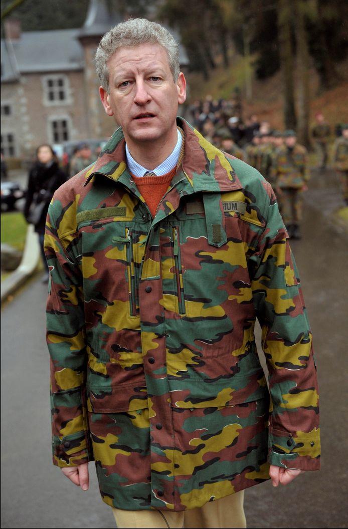 Pieter De Crem ten tijde van zijn ministerschap op Defensie. Hij hield er de bijnaam 'Crembo' aan over.
