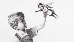 Verpleegster is heldin in nieuw kunstwerk van Banksy