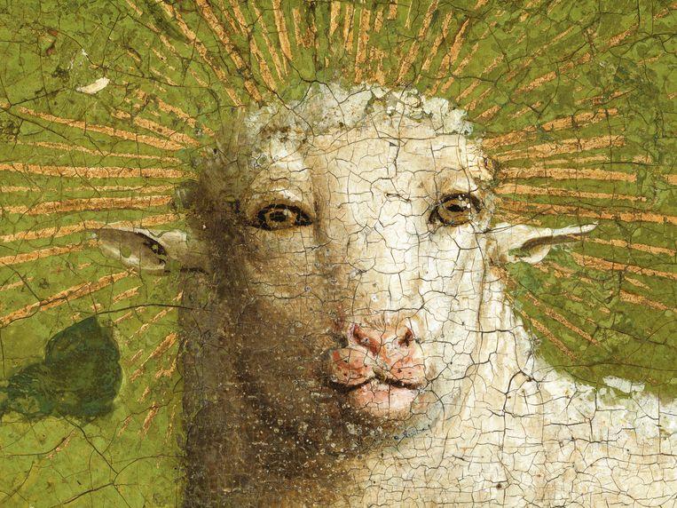Het originele Lam Gods, zoals de gebroeders Van Eyck het hebben geschilderd. Beeld KIK-IRPA