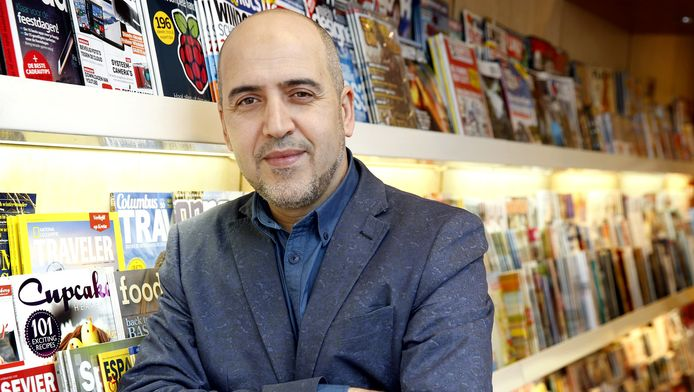 Brahim Bourzik, hoofdredacteur van de glossy Mohammed die op 10 oktober in de winkels ligt