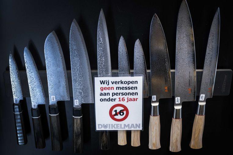 Inzamelingsacties brengen genoeg wapens op tafel, maar dat dit ook daadwerkelijk tot vermindering van steekincidenten leidt, is niet aangetoond. Beeld ANP