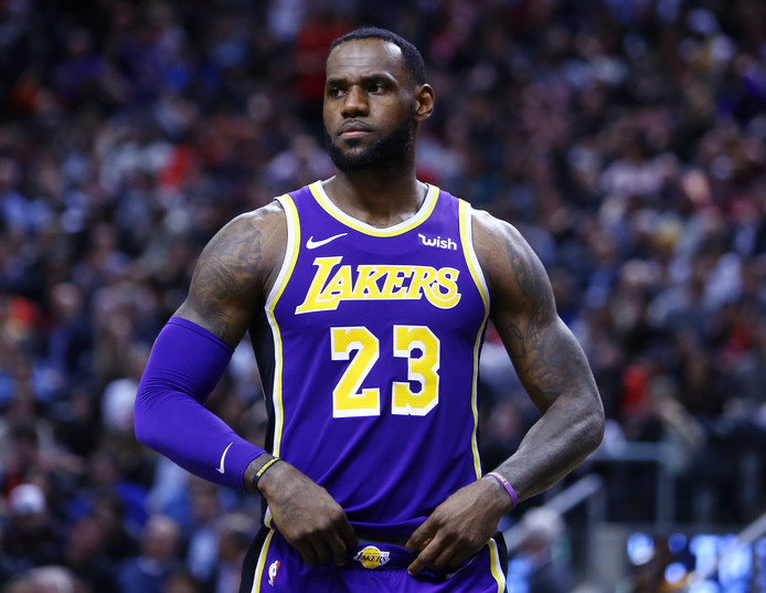LeBron James: opnieuw onderuit met LA Lakers.