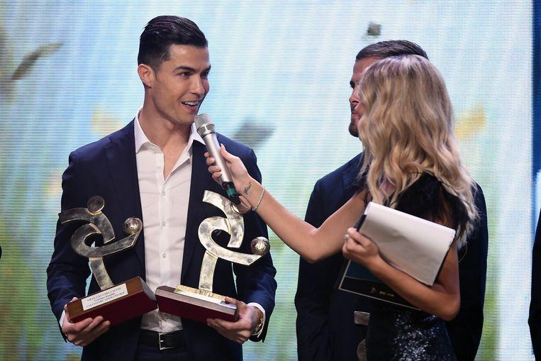 Ronaldo gelauwerd op het 'Gran Gala' in Milaan.