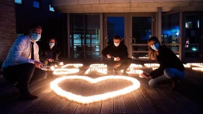 """'De Warmste Avond' met 900 kaarsjes voor alle medewerkers Zorgband Leie & Schelde: """"Symbool voor hun moed en doorzettingsvermogen"""""""
