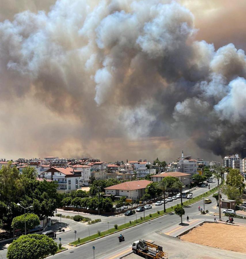 Verschillende branden in de Turkse regio Antalya.