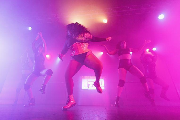 De Amerikaanse soulsensatie Lizzo tijdens een optreden in Seattle, afgelopen april. Beeld Getty Images