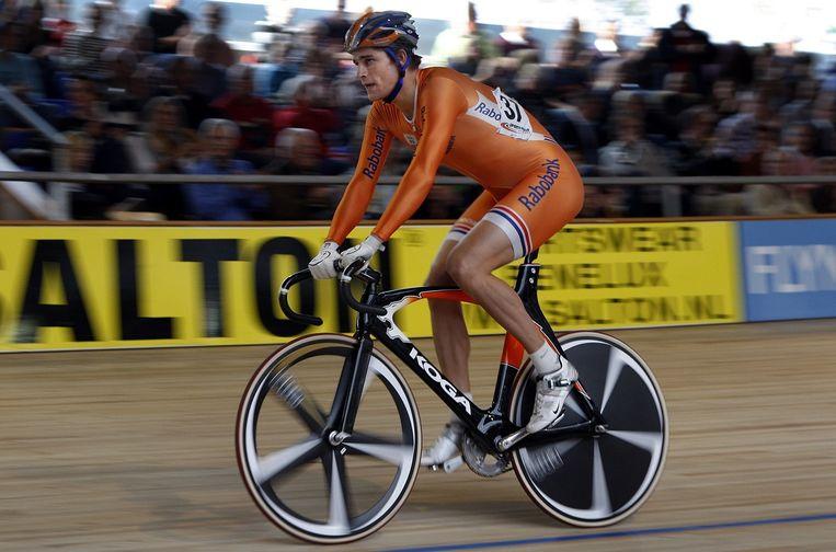 Theo Bos actief als baanwielrenner in 2008. Beeld anp