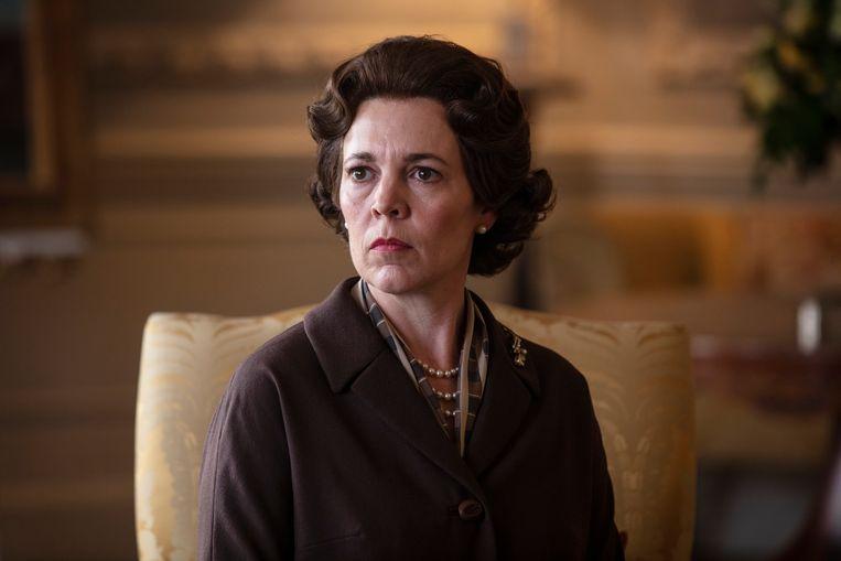 Olivia Colman, Queen Elizabeth II in The Crown, speelt bijna een bijrol in het vierde seizoen van de serie. Beeld AP
