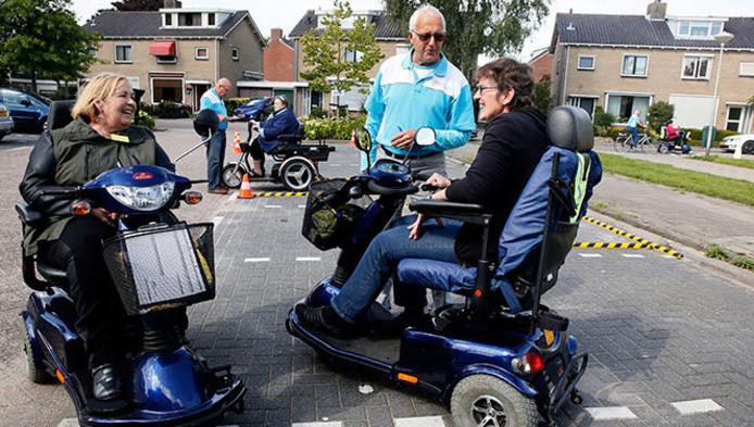 De gemeente Giessenlanden hield al eerder een scootmobieltraining.