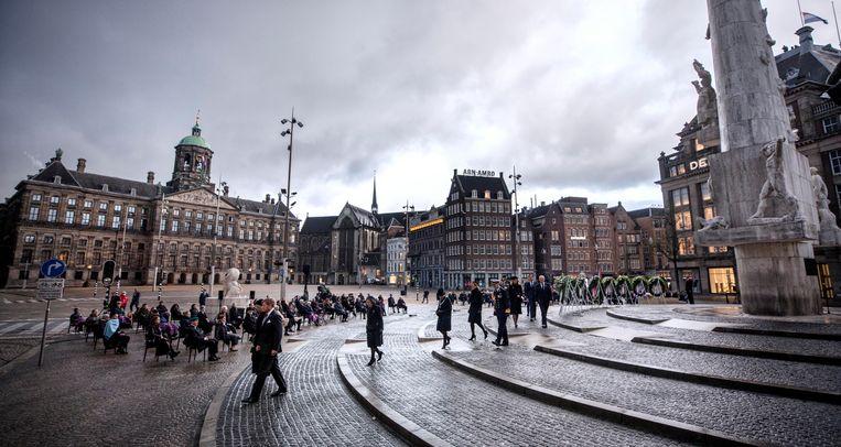 De Nationale Dodenherdenking op de Dam in Amsterdam. Beeld Raymond Rutting / de Volkskrant
