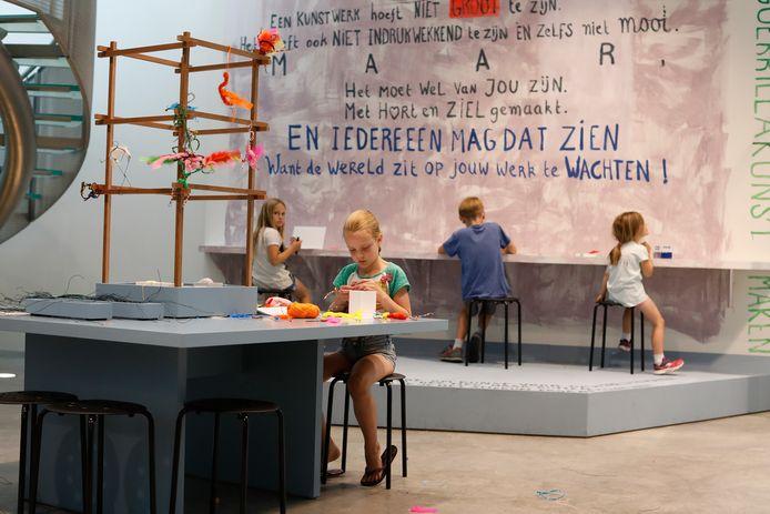 Kinderen kunnen tijdens Summerschool zelf kunst maken