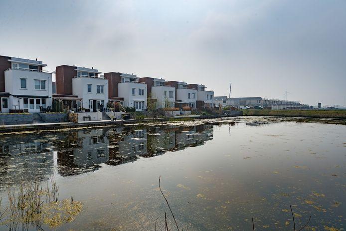 De wijk Bosselaar Zuid in Zevenbergen in april 2019. Op de voorgrond deelgebied 1, op de achtergrond deelgebied 2A, toen nog in aanbouw.