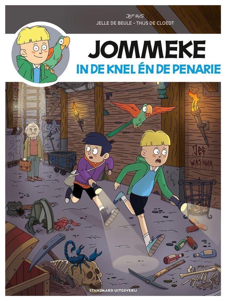 Jelle De Beule (tekst) en Thijs De Cloedt (tekeningen): Jommeke in de knel én de penarie. Beeld Standaard Uitgeverij