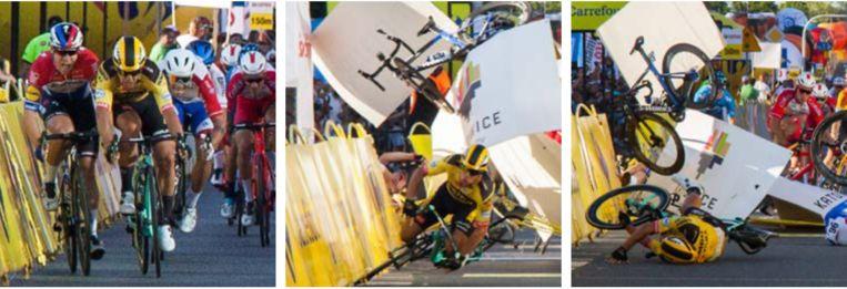 De bewuste crash. Beeld BelgaImage