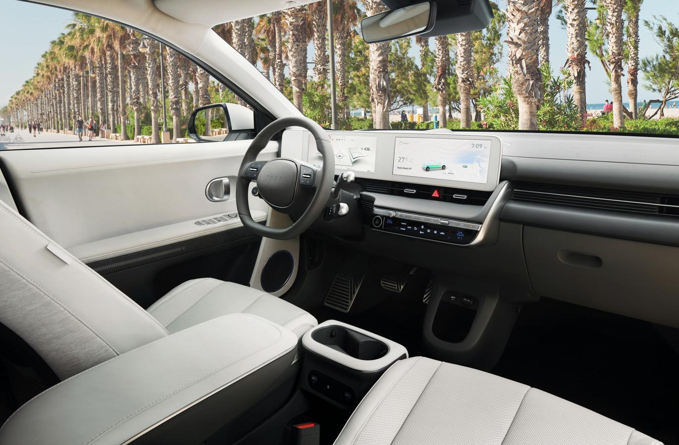 Het dashboard van de Hyundai Ioniq 5