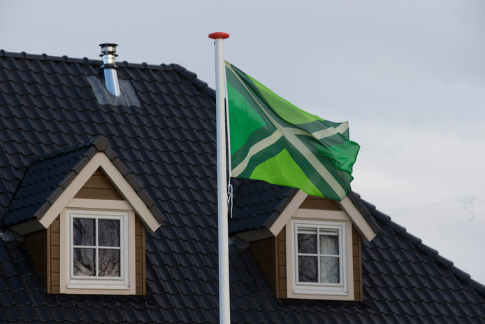 De Achterhoekse vlag in Hengelo.