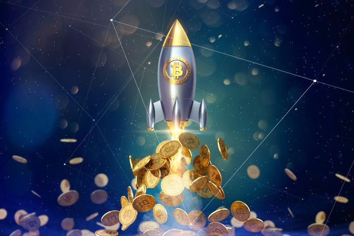 De digitale munteenheid bitcoin is naar een nieuwe recordhoogte gestegen.