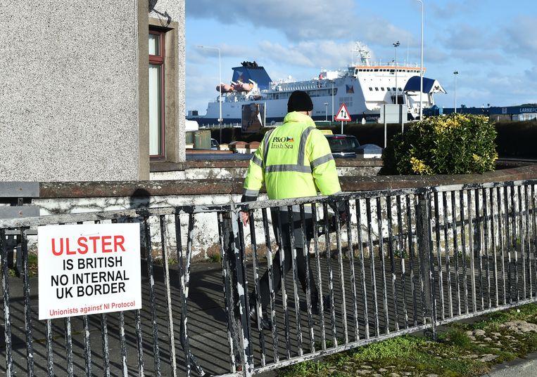Volgens de Britten zijn er aanwijzingen dat grenscontroles tussen het Verenigd Koninkrijk en Noord-Ierland zwaarder zijn dan elders. Beeld Getty Images
