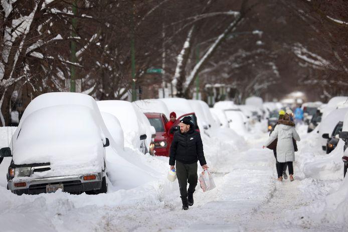 Chicago ligt momenteel onder een dik pak sneeuw.