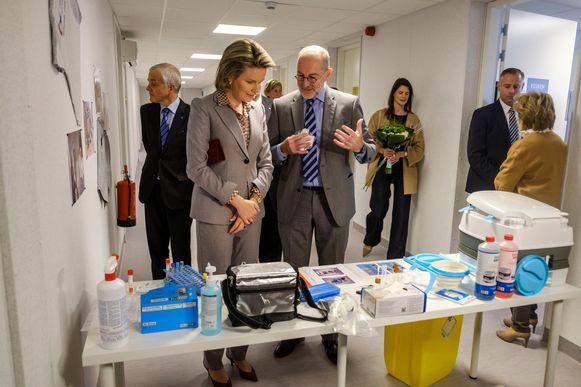 Koningin Mathilde kreeg ook een rondleiding in Poliopolis.