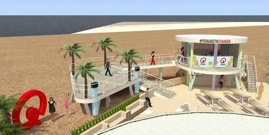 Het Q-Beach House moet er als een Amerikaanse strandpost gaan uitzien.