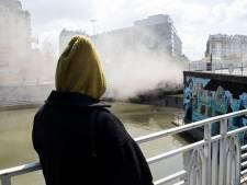 Le pont Sainctelette se noie dans la fumée: évitez la zone