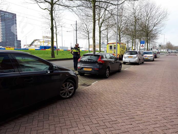 De ambulance was op weg naar Marconiplein om daar medische hulp te verrichten.