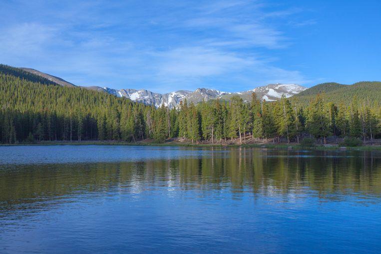 Echo Lake, Mount Evans, Colorado. Beeld getty images