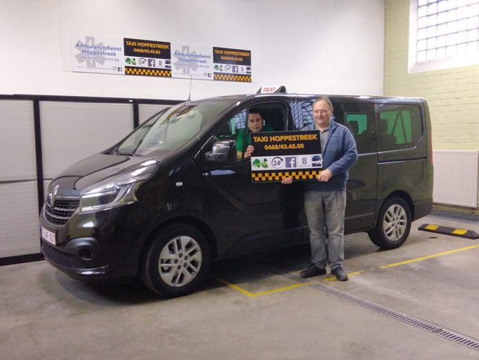 Genghis Khan en José Verhaeghe van Taxi Hoppestreek.