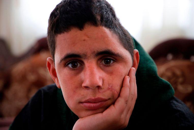 De 15-jarige Mohammed al-Tamimi. Beeld AFP