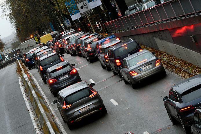 Embouteillages à Bruxelles.
