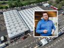Het XL-testpaviljoen in Zwolle is zo goed als klaar al voor 25.000 bezoekers per dag. Op de foto eigenaar Xander Schurink van Hestia