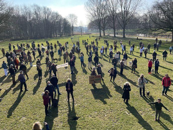 Protest in Noorderpark.