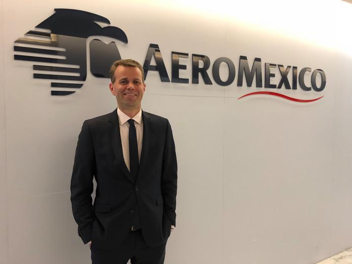 Paul Verhagen, is internationaal verkoopdirecteur van luchtvaartmaatschappij Aeromexico.