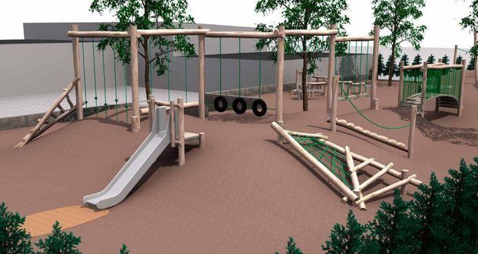 De nieuwe speeltuin in Wieze zal er op deze manier uitzien.