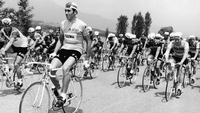 Eddy Merckx, hier tijdens de Tour van 1969: