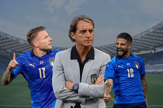 Prijsschutter Ciro Immobile, bondscoach Roberto Mancini en smaakmaker Lorenzo Insigne.