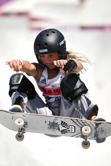 Skateboardsters van 12 en 13 schrijven geschiedenis op Spelen: 'Het is gestoord'