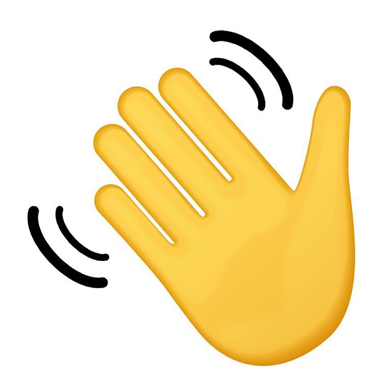 Het logo van Clubhouse, de babbelapp die er nu nog alleen is voor iPhonegebruikers. Aan een Androidversie wordt gewerkt. Beeld